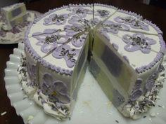 Lavender handmade soap checkerboard cake.