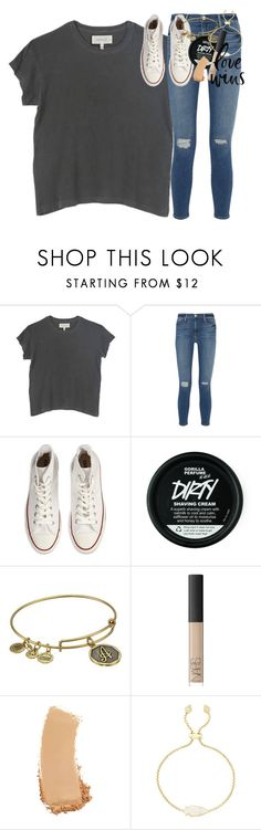 """carpe diem et noctem."" by classynsouthern ❤ liked on Polyvore featuring The Great, Frame, Converse, Alex and Ani, NARS Cosmetics, Gucci and Kendra Scott"