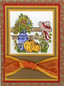 Fall Garden Card & DIY Directions from GreatImpressionsStamps.com