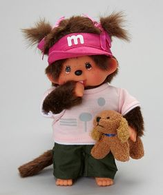 Take a look at this Dog Trainer Girl Monchhichi Plush Toy by Monchhichi on #zulily today!