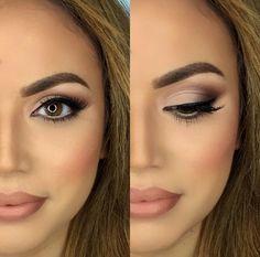 Ideas Makeup For Brown Eyes Natural Looks Black Women For 2019 Wedding Makeup For Brunettes, Wedding Makeup For Brown Eyes, Best Wedding Makeup, Natural Wedding Makeup, Wedding Makeup Looks, Natural Makeup, Hair Wedding, Simple Makeup, Blue Wedding
