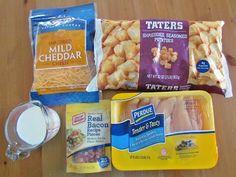 Cheesy Chicken Crock Pot Casserole