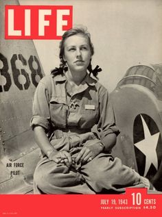 The cover of Life magazine features a photo of American pilot trainee Shirley Slade (later Teer) (1921 - 2000), in a flight suit and pigtails, as she sits on the wing of her Army trainer at Avanger Field, Sweetwater, Texas, July 19, 1943. In September, Slade graduated as part of Women Airforce Service Pilots Class 43-5. Photo by Peter Stackpole/Time & Life Pictures/Getty Images