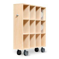 margherita/Storage Cart キャスター付き収納棚カート DVD用 26040yen 飛行機内用ワゴンから生まれた秀逸キャスター付き収納カート