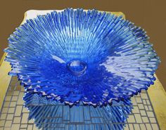 This is a huge Tauno Wirkkala Revontulet glass dish measuring dia. and dating from Amazingly in perfect condition. A real statement piece, SOLD.