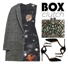 """Box Clutch"" by tharwawajihahzainal ❤ liked on Polyvore featuring Valentino, Zara, Sergio Rossi, women's clothing, women's fashion, women, female, woman, misses and juniors"