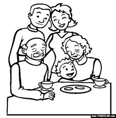 boxing day family gathering online coloring page - Grandparentscom Coloring Pages