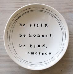 5 dish emerson quote. IN STOCK by mbartstudios on Etsy, $26.00
