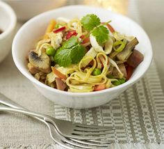 Turkey curry is a traditional leftovers dish, but this stir-fry brings the dish bang up to date