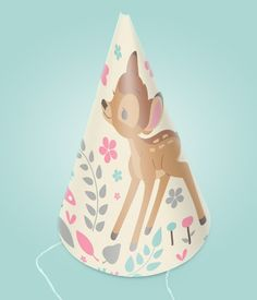 Celebrate with Disney: Bambi party ideas. Bambi Party Hats. Free. Classic Disney #disney