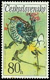 Cl: Common Cuckoo (Cuculus canorus) SG 2073 (1972) 65. One of my favorite stamps, but in a pale blue version, same series