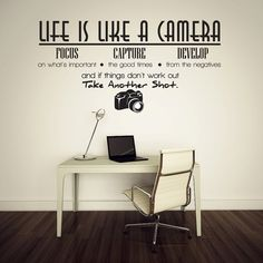 Life is like a camera Vinyl Wall Lettering