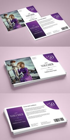 Search for over card templates to design invitations, save-the-date notes, and announcements. These card template sets feature holiday and event themes as well as collage templates for personal and professional cards. Gift Voucher Design, Card Templates, Design Templates, Flyer Design Inspiration, Postcard Design, Coupon Design, Gift Vouchers, Grafik Design, Advertising Design