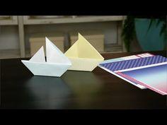 Make a Paper Boat: Starring Regatta Paper Packet - YouTube