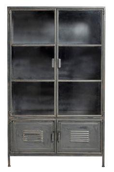 Vitrine Vintage Métal - Nordic Factory   File Dans Ta Chambre Vitrine Vintage, Decoration, China Cabinet, Lockers, Locker Storage, Bookcase, Shelves, Furniture, Home Decor