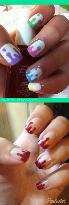 This manicure is not real blood... but it COULD have been - Got to make the bloody ones for the next zombie walk!