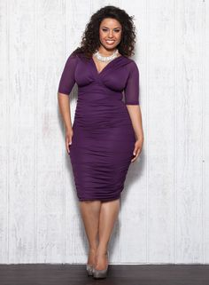 Betsy Ruched Plus Size Dress ~