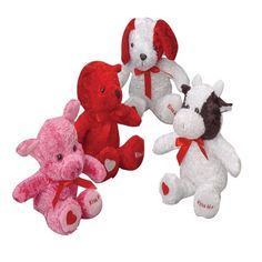 Plush Valentine Kiss Me Animals - Valentine's Day Party Headquarters | Party Supply Store | Novelty Toys | Carnival Supplies | USToy.com
