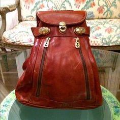 Mario Orlandi Handbags - Vintage Marino Orlandi Italian Backpack Purse