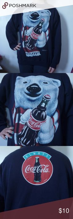 Vintage 1995 coca-cola sweater Cute and cozy sweat shirt perfect for wintertime. In great shape. Coca-Cola Sweaters