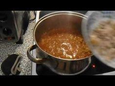 Koložvárské zelí - YouTube Chili, Soup, Pudding, Ethnic Recipes, Desserts, Youtube, Tailgate Desserts, Deserts, Chile