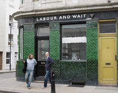 labour and wait store front, via simple + pretty