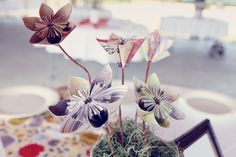 Gorgeous paper flowers. Real Wedding designed by Orange in Bloom