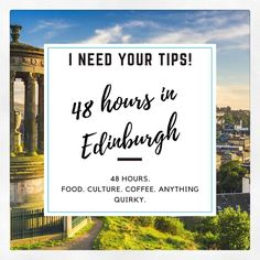 I need your tips! How well do you know Edinburgh? I'm heading back to my old hometown Edinburgh tomorrow with @crosscountryuk to create a new 48 Hour Guide to the city for the blog. Been a few years since I lived in the city so looking for suggestions of budget friendly but cool places to eat drink and socialise. Anything quirky too. Tag any friends who are in the know. Stay tuned here and IG Stories from tomorrow for all the updates.#travelbytrain #thisisedinburgh #sp