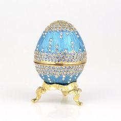 Light Blue Faberge Egg Box