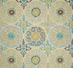 g41 EXOTIC  HEAVY WEIGHT WVN JACQUARD SUZANI MEDALLION UPHOLSTERY FABRIC  BTY