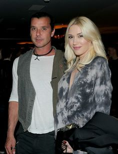 """Gavin Rossdale and pregnant wife Gwen Stefani attend a screening of """"American Hustle"""" presented by Pandora Jewelry and Moto X at Cinema Prive in West Hollywood, Calif., on Nov. 30, 2013."""