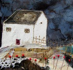 'Lake end cottage' by Louise O'Hara of DrawntoStitch www.drawntostitch.com