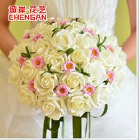 2015 em estoque artesanal requintado flores Bouquets De Noiva elegante Noiva…