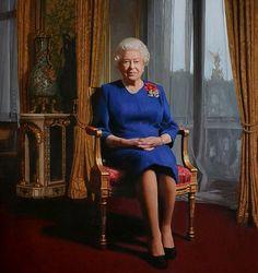 Portrait of Queen Elizabeth II by gallery artist Darren Baker in support of the British Legion. Hm The Queen, Royal Queen, Her Majesty The Queen, Save The Queen, Queen Elizabeth Portrait, Queen Elizabeth Ii, Commonwealth, Cousins, Windsor