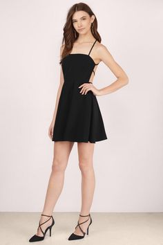 Grace Halter Skater Dress