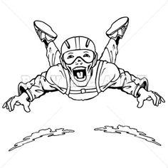 Vector skydiving parachutist hand drawing into vector - Dessin parachutiste ...