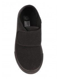 Update their footwear collection ready for the new term with these black canvas shoes. Black Canvas Shoes, Uniform Clothes, School Shoes, Peacocks, School Uniform, Slippers, Vans, Footwear, Slip On