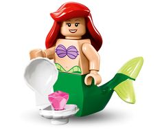 Buy and collect the LEGO Disney Ariel minifigure. Ariel Disney, Lego Disney, Mermaid Disney, Ariel The Little Mermaid, Walt Disney, Ariel Mermaid, Lego Minifigure, Disney Minifigures, Lego Ninjago Movie
