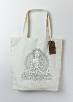 Hemp Tote w/ Buddha Print