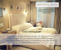 Relax and unwind with the ultimate in comfort and #luxury from the Amsterdam Hotel, #London.