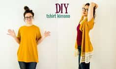 DIY Kimono From a T-Shirt (No-Sew Option)                                                                                                                                                     More
