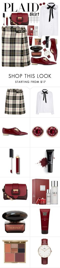 """Be Wise in Plaid"" by creativejenerator ❤ liked on Polyvore featuring Miu Miu, River Island, Coliàc Martina Grasselli, Thomas Sabo, Chanel, Inglot, Burberry, Sephora Collection, Rituals and Stila"