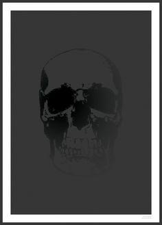 Simple Skull Poster