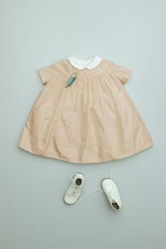 baby silk party dress | flora and henri