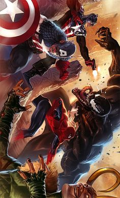 This is one of my favorite Marvel pics it has 2 of my fave villains Loki & Venom