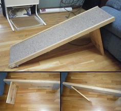One of our fans – Jess Manderson – sent us a message requesting a simple idea on how to build a pet step/ramp for her dog Mini who's in his golden years. It took a while, but we found one :-) We have more DIY projects for your pets at http://theownerbuildernetwork.com.au/coops-hutches-and-other-pet-accommodation/