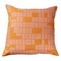 Housse de coussin Rectangles mandarine - 45 x 45 cm