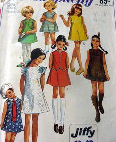 LOVELY VTG 1960s GIRLS DRESS Sewing Pattern 6
