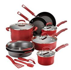 HOT HOT HOT!!! Rachael Ray 15-pc. Nonstick Porcelain Enamel Cookware Set Only $64.99!!! - http://couponingforfreebies.com/hot-hot-hot-rachael-ray-15-pc-nonstick-porcelain-enamel-cookware-set-64-99/