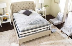 They Woke Up Like This: Choosing the Perfect Guest Room Mattress — American Signature Furniture Full Mattress Set, Twin Xl Mattress, Queen Mattress, Ikea Shelf Unit, Builder Grade Kitchen, String Lights In The Bedroom, California King Mattress, Clutter Free Home, Mesas